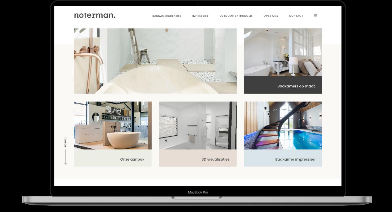 Nieuwe website voor Noterman badkamers en interieur