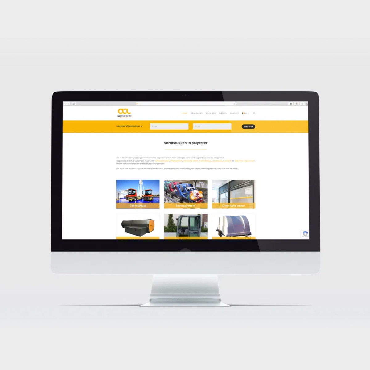 ACL Polyester website ontwerp