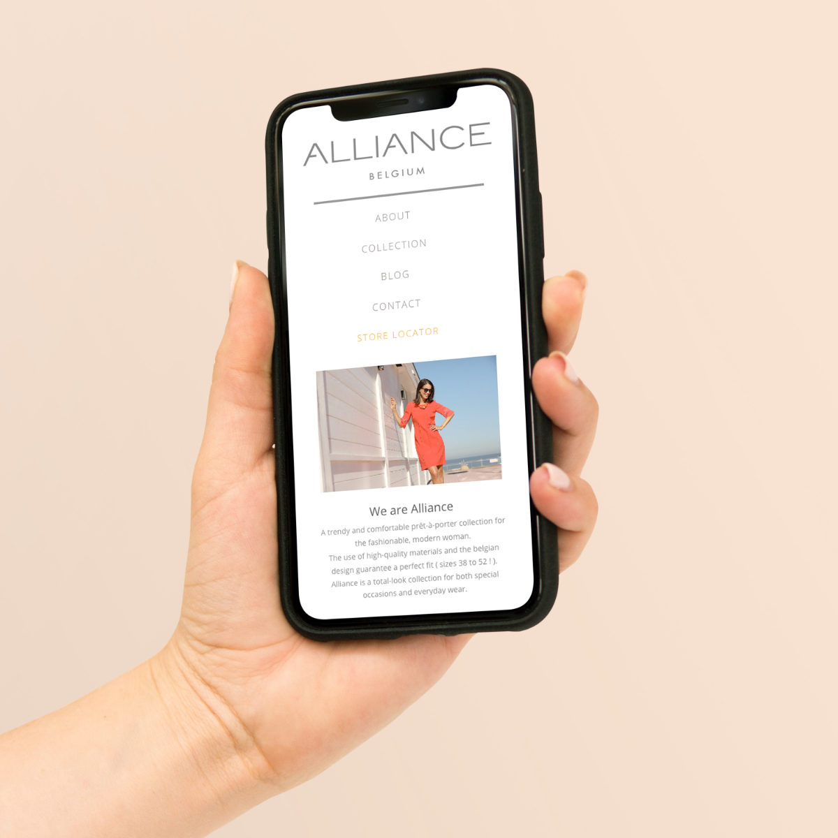 Alliance Fashion mobiele website