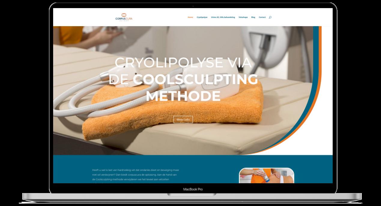 Webdesign voor Corpus Cura