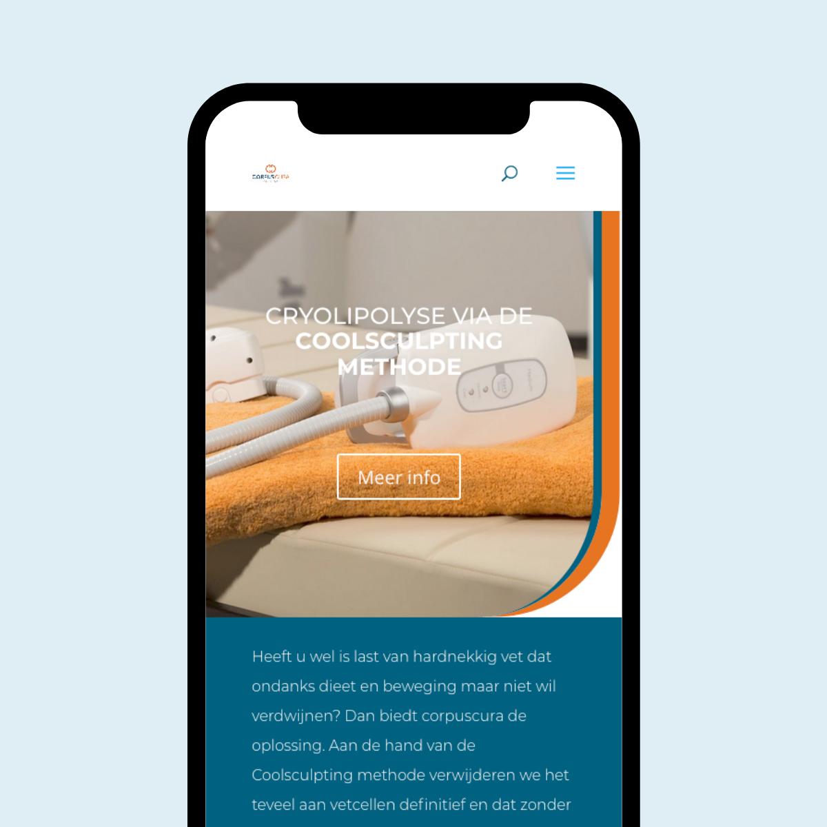 Responsive Webdesign voor Corpus Cura