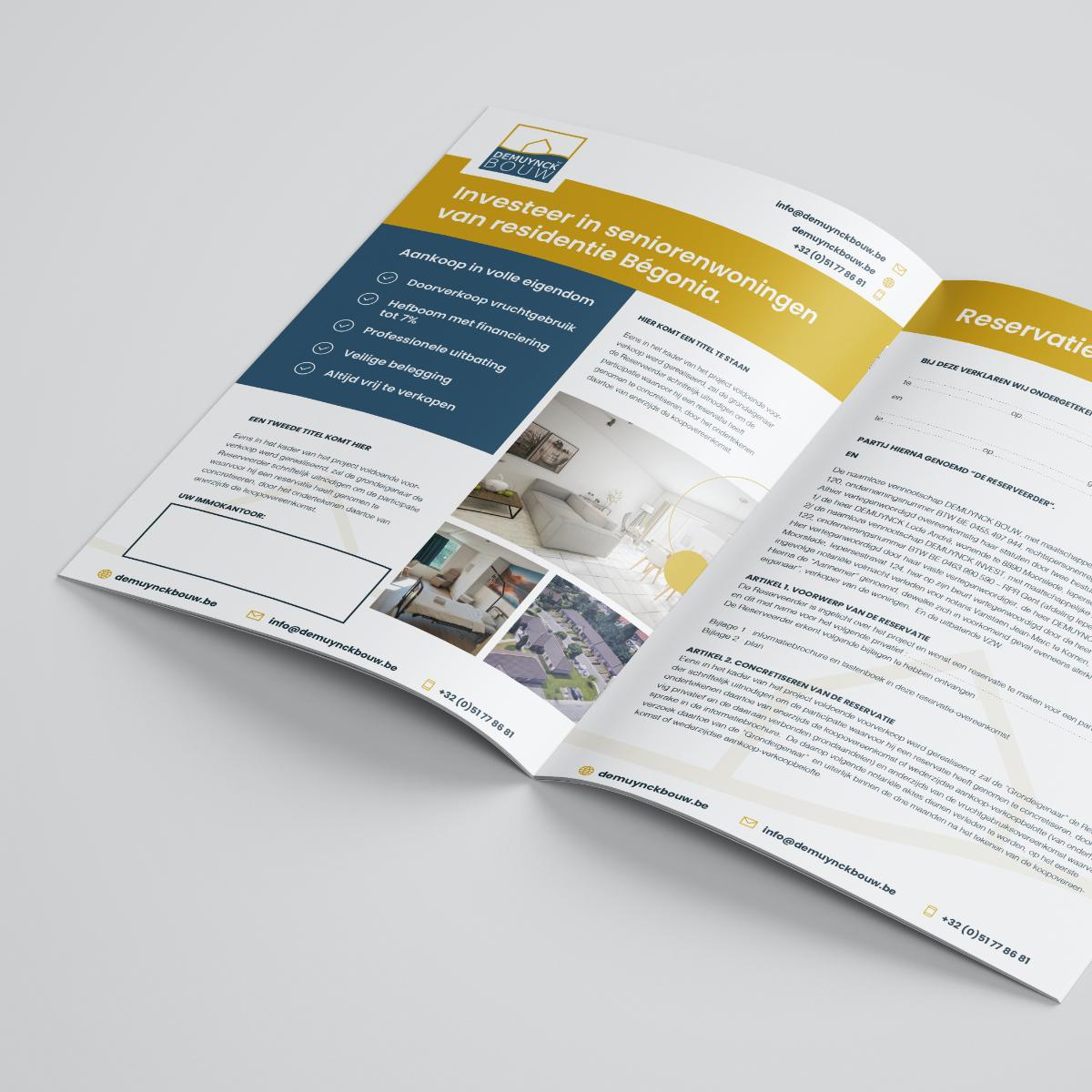 Brochure ontwerp voor Demuynck bouw