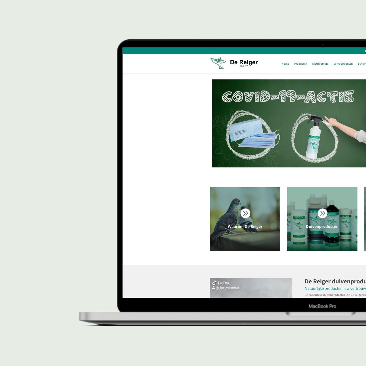 Webshop ontwikkeling voor de Reiger