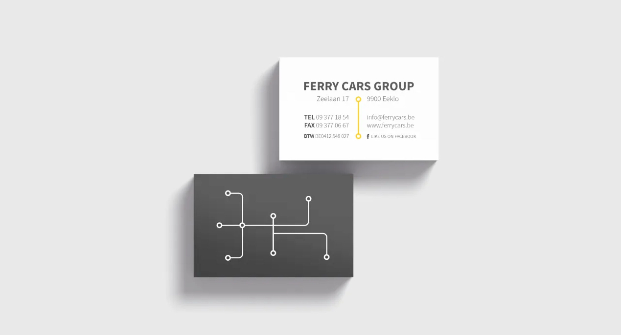 Huisstijl ontwerp voor Ferry Cars