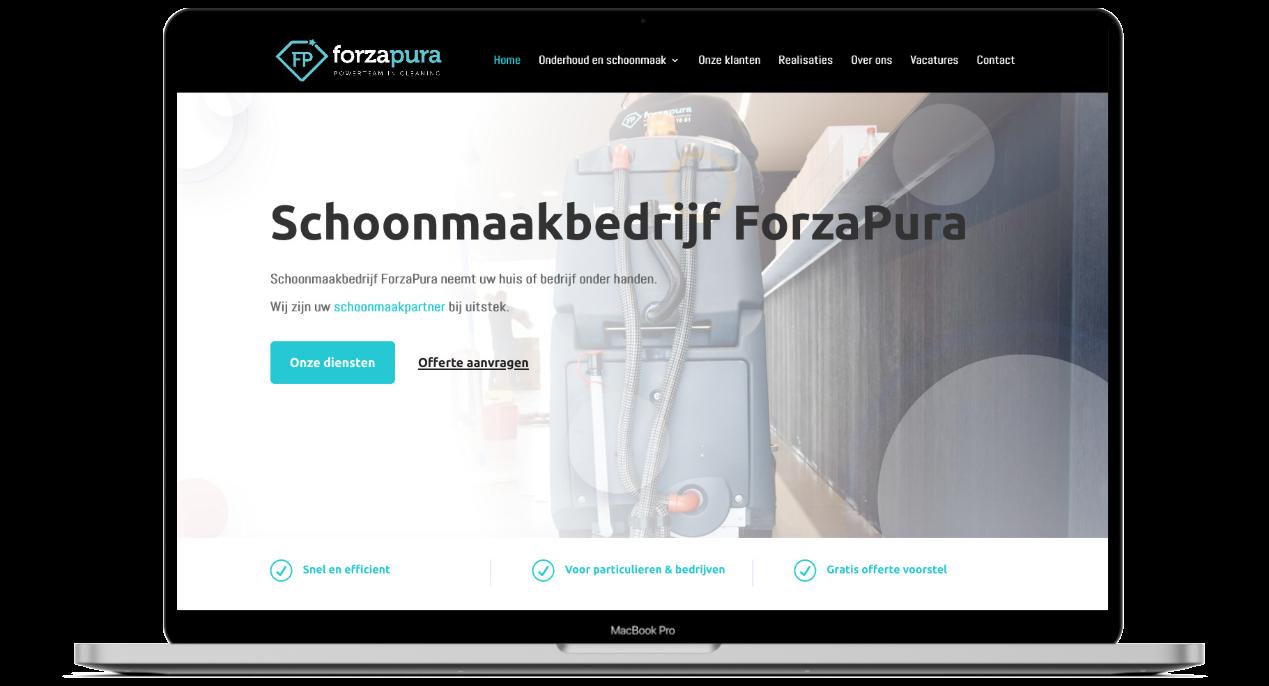 Website ontwikkeling voor ForzaPura