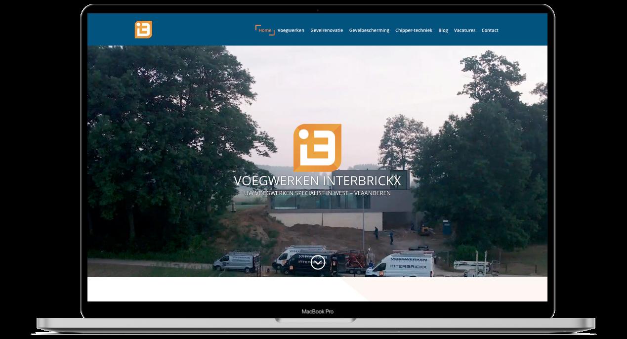 Website ontwerp voor Interbrickx