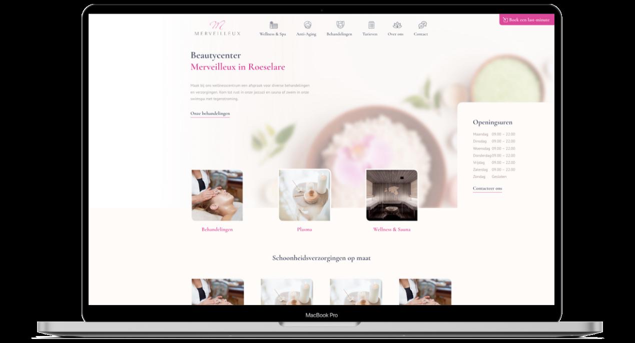 Website ontwerp voor Merveilleux