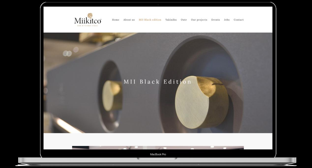 Website ontwerp voor Miikitco