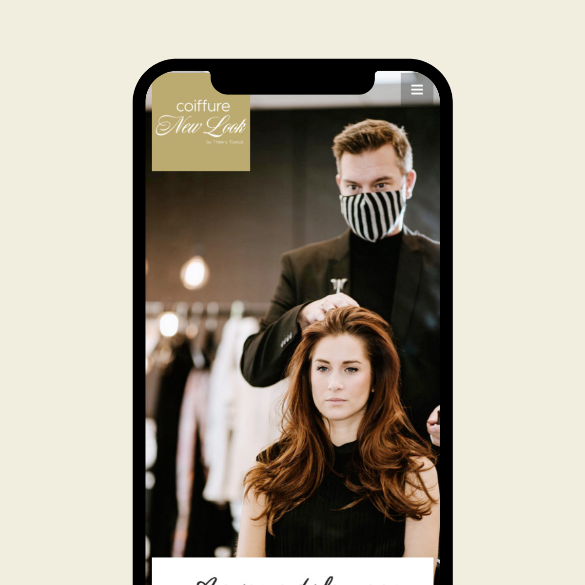 Website voor Coiffure New Look