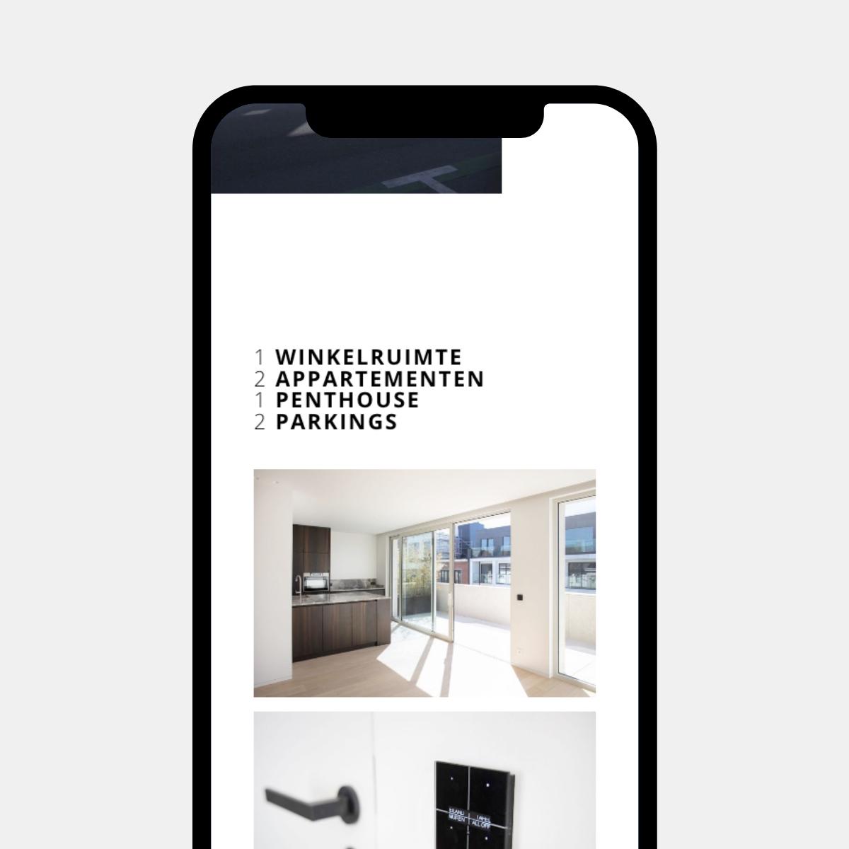 Mobiele website Residentie Number Eight