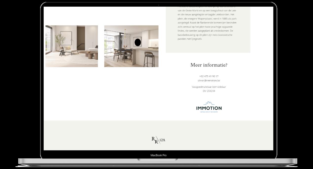 Residence Roosevelt 12A website ontwerp