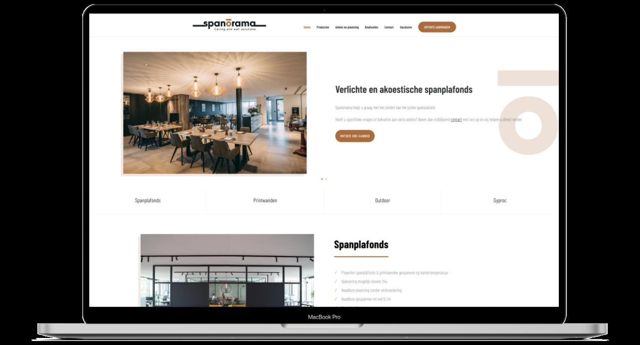 Webdesign voor Spanorama