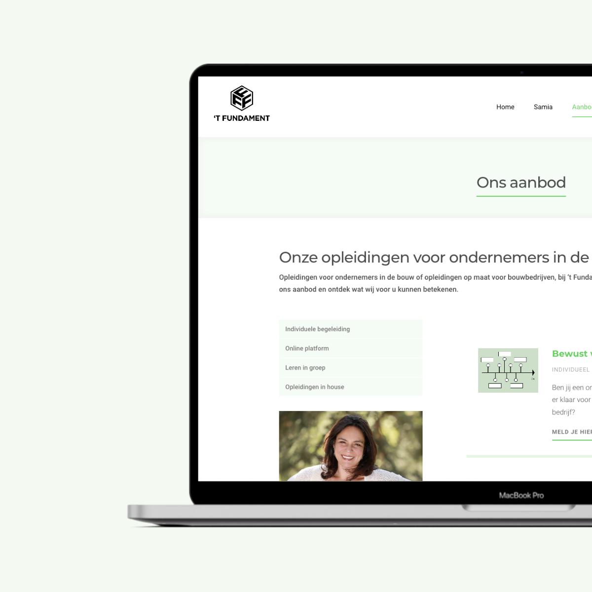 Webdesign voor 't Fundament