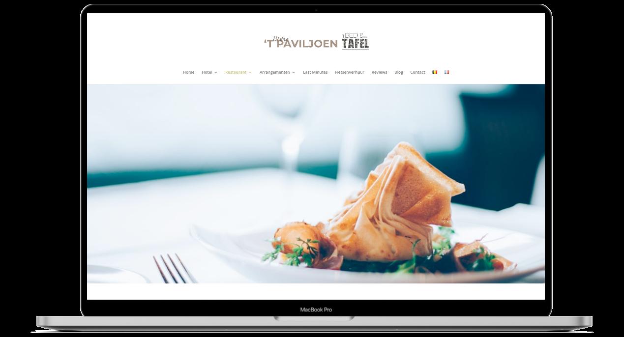 Bistro 't Paviljoen website