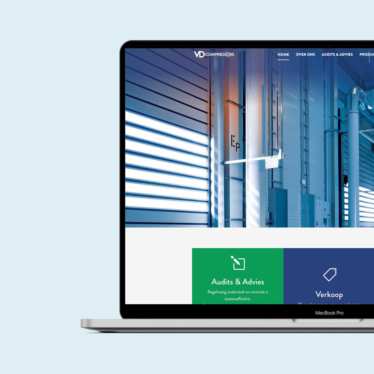Website ontwerp voor VD compressors