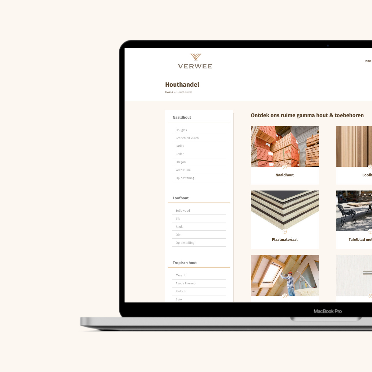 Website ontwikkeling voor Verwee