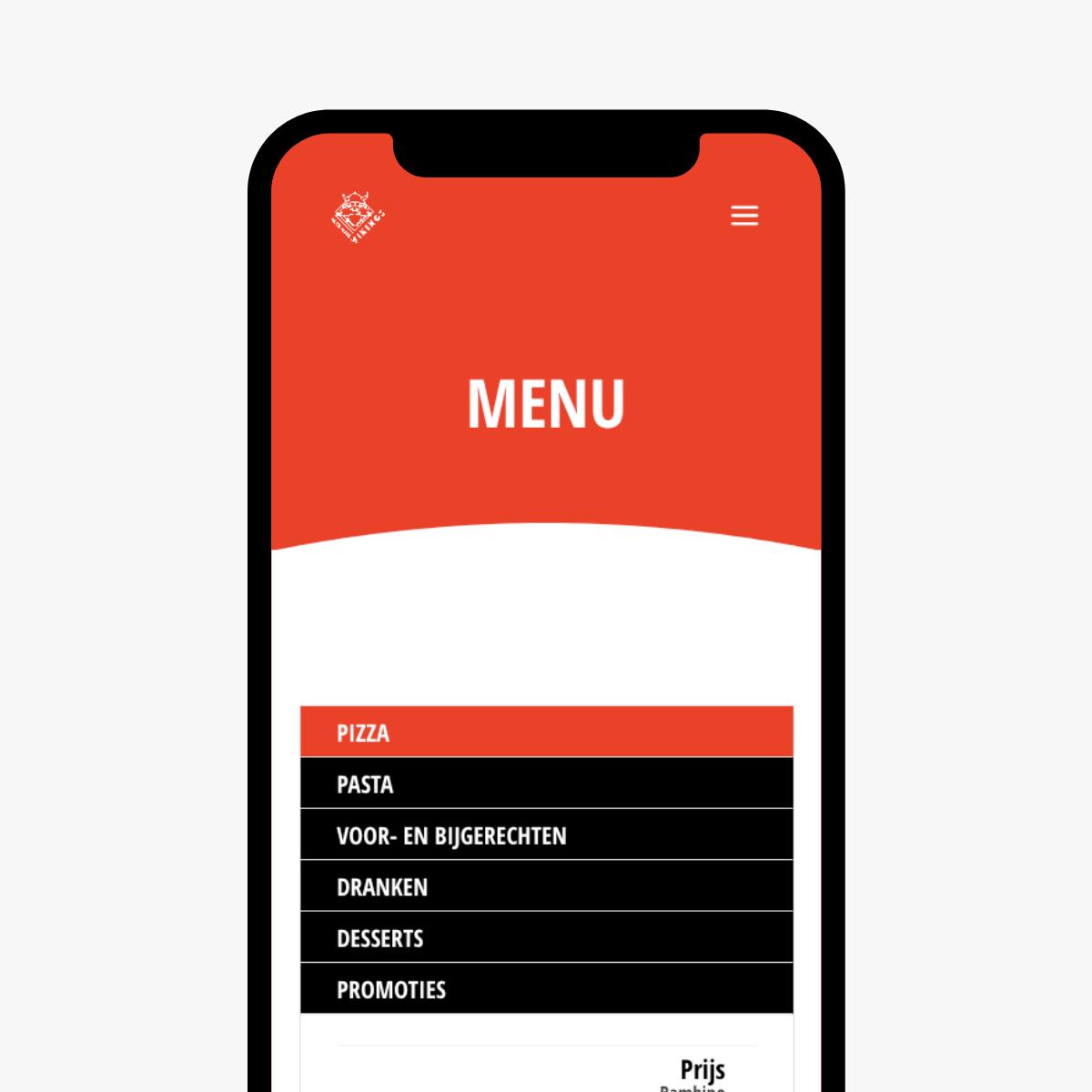 Mobiele website ontwerp voor Vikings