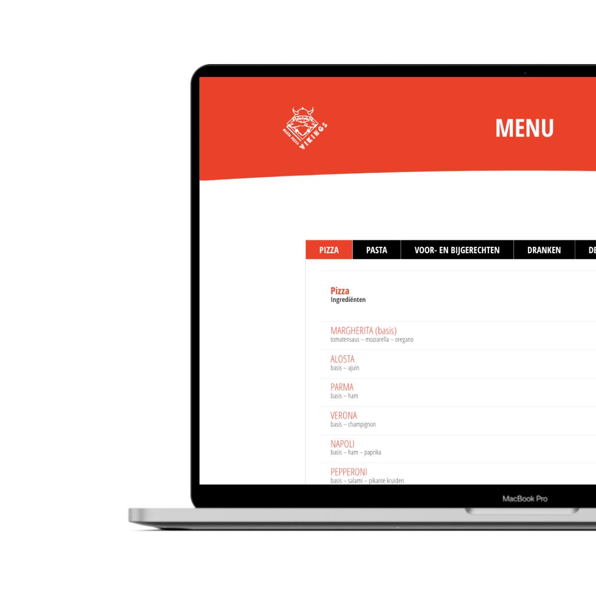 Website ontwerp voor Vikings