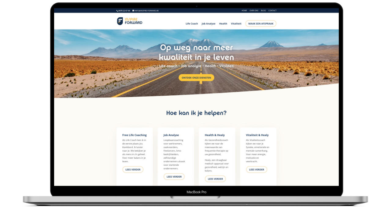 Website ontwikkeling voor Inspire Forward