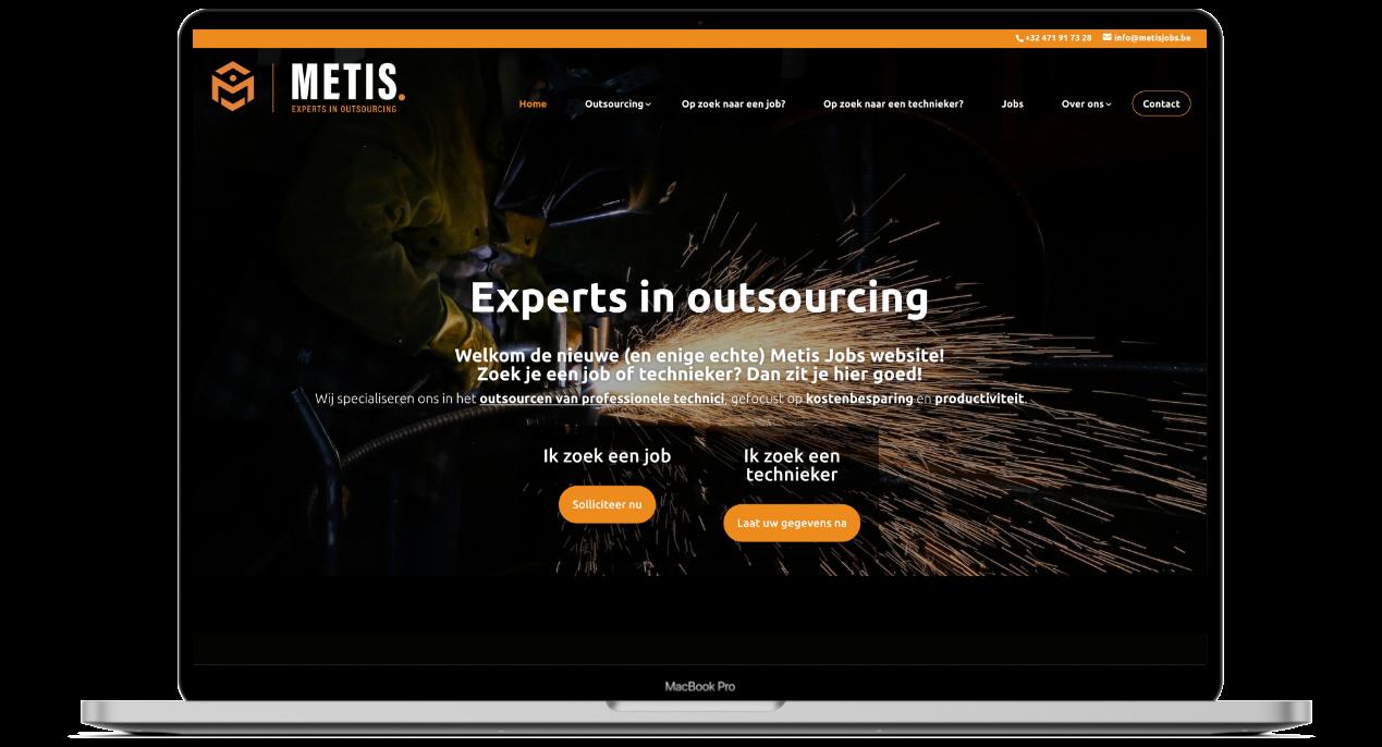 Website voor Metis Jobs