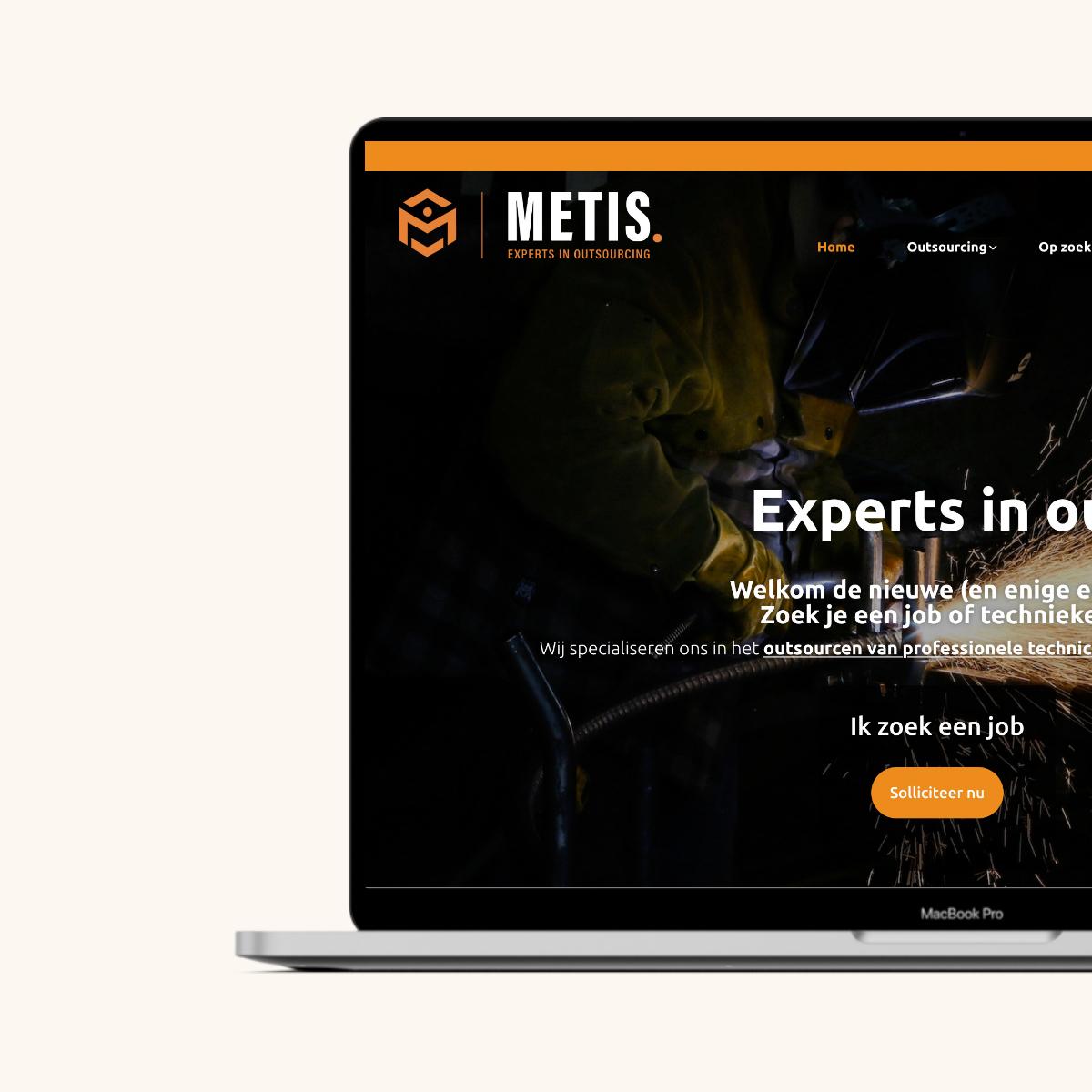 Website ontwerp voor Metis Jobs
