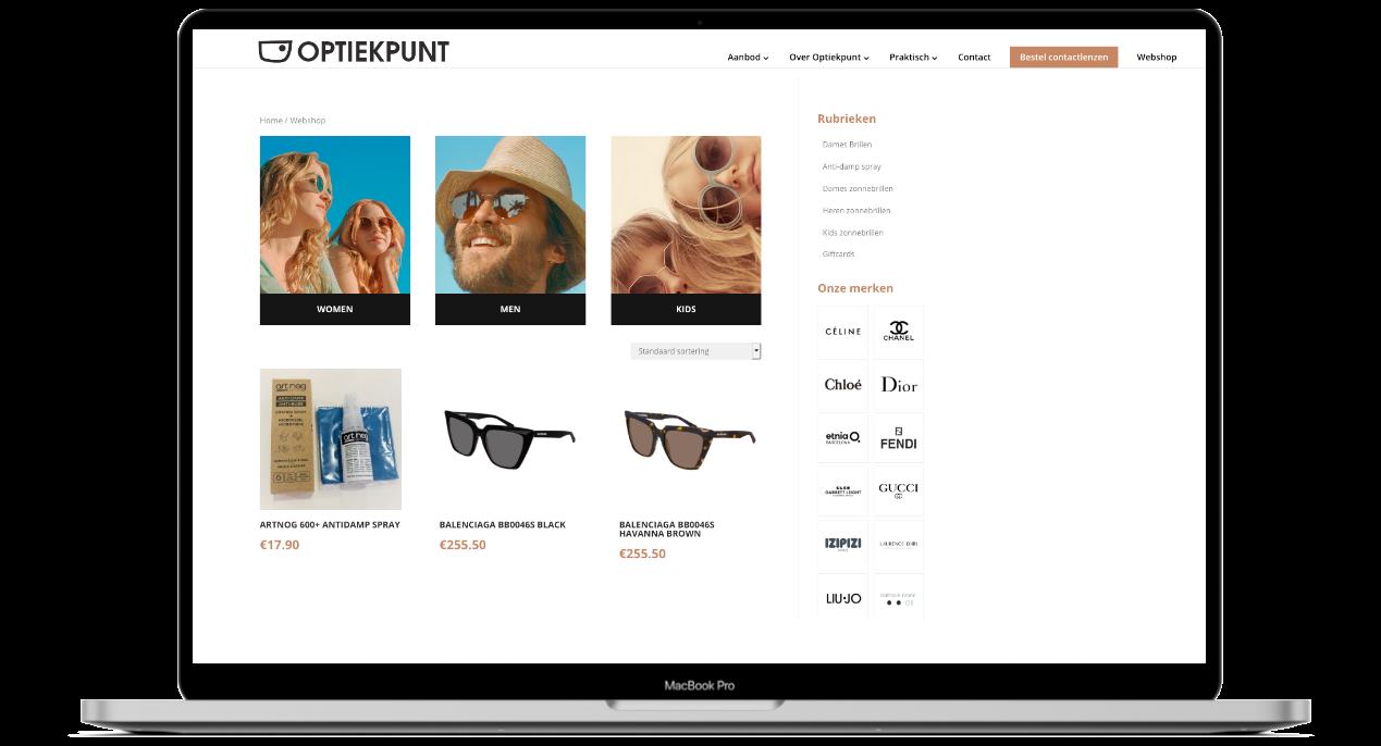 Webshop ontwikkeling voor Optiek