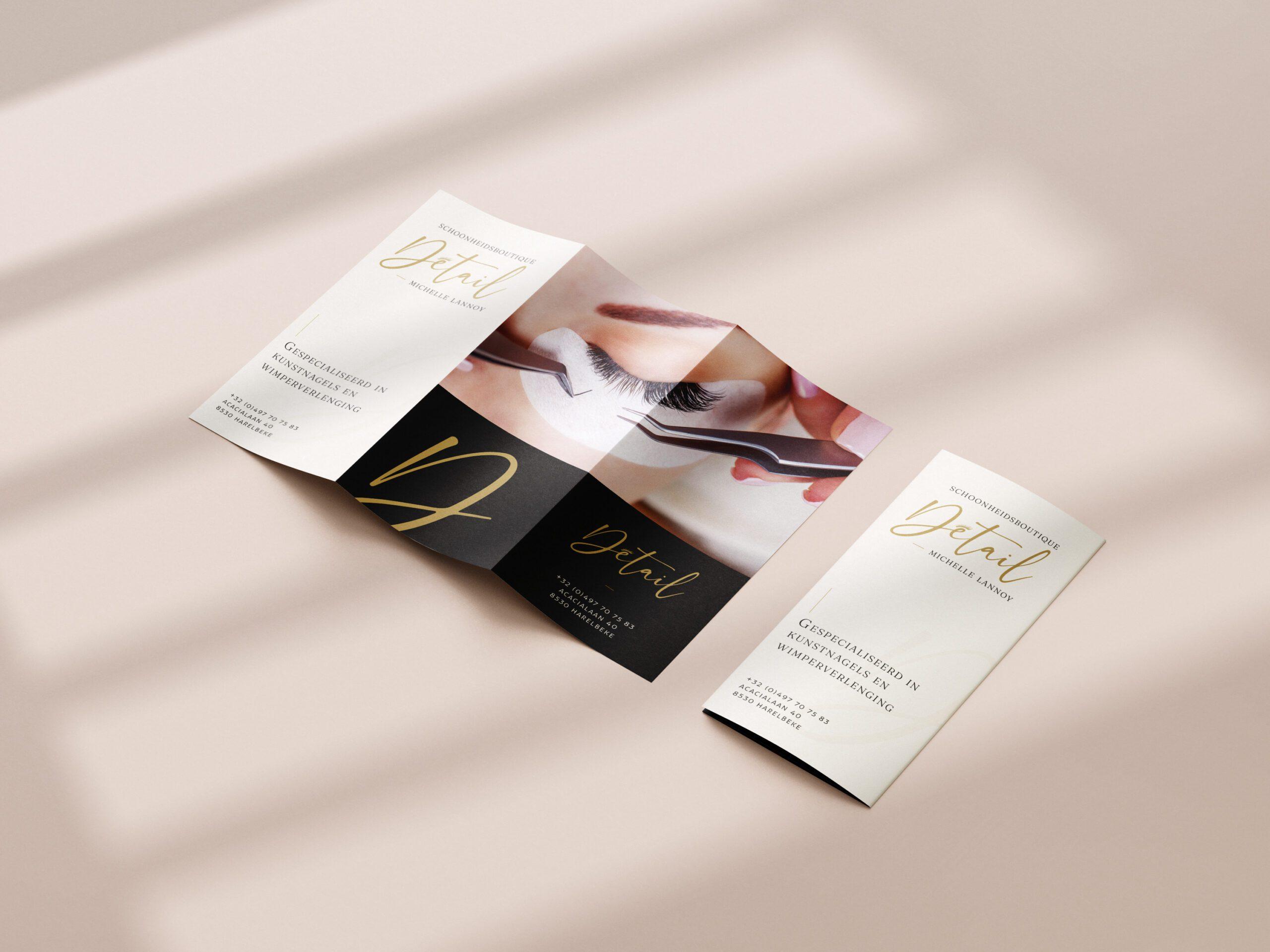 Folder ontwerp voor Détail