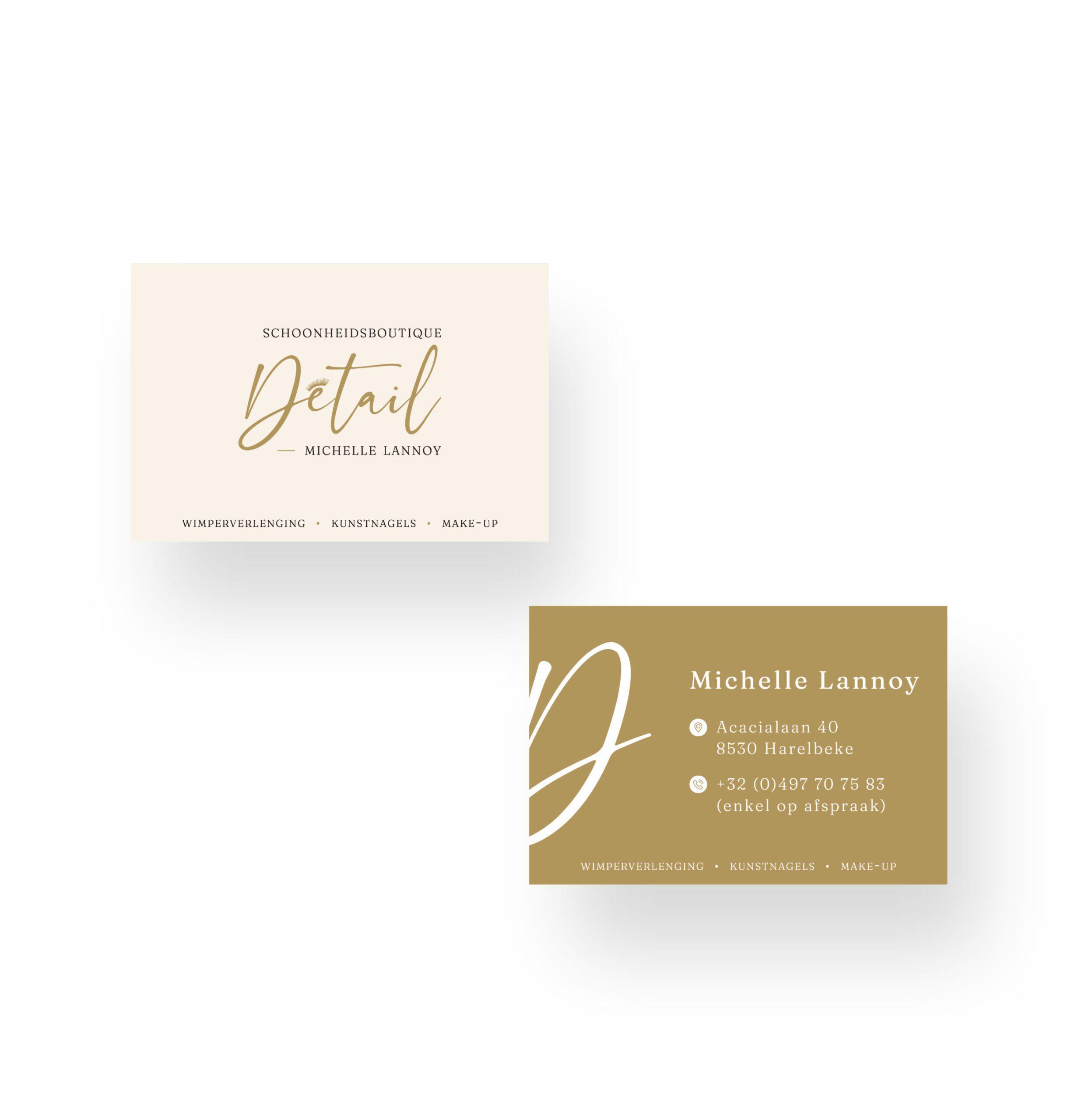 Visitekaartje ontwerp voor Détail