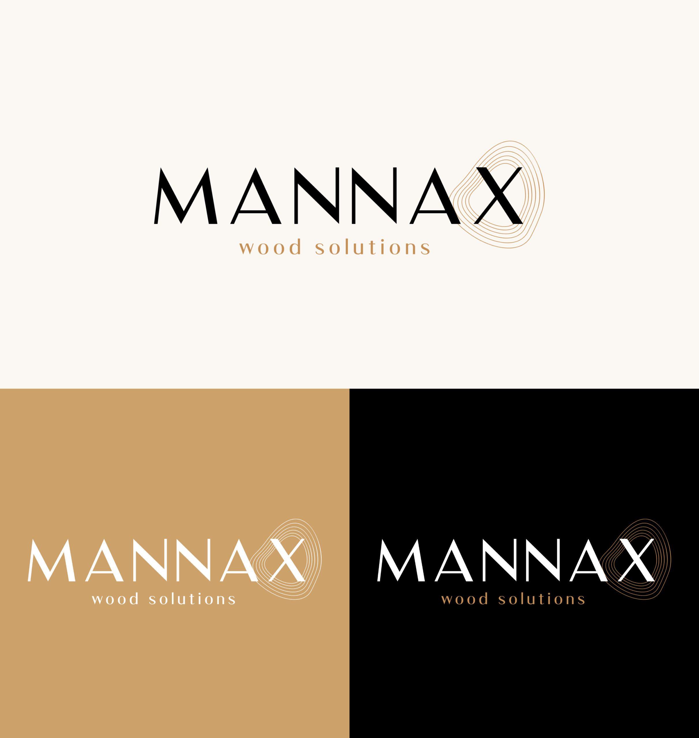 Mannax logo ontwerp