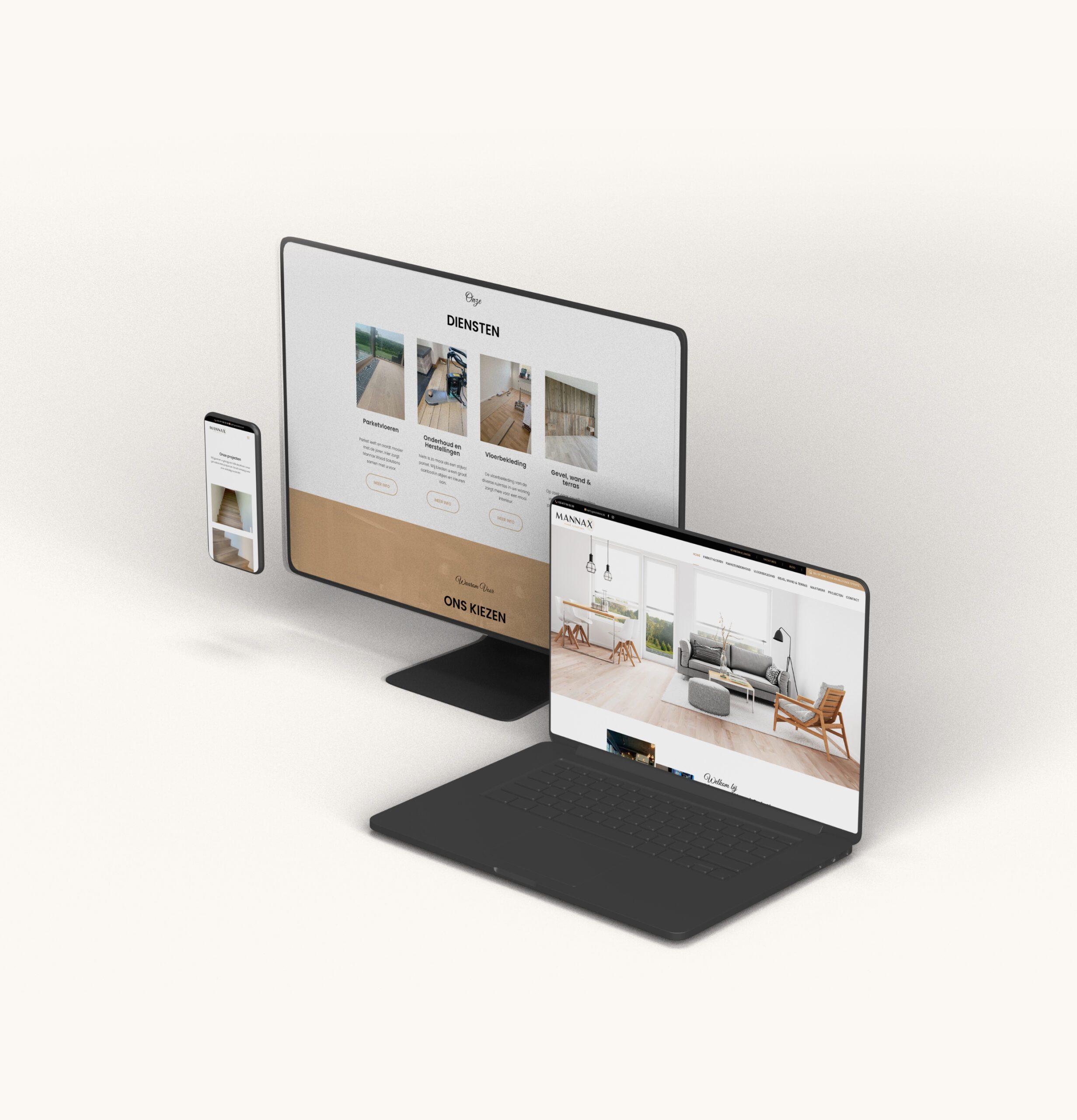 Mannax website ontwerp