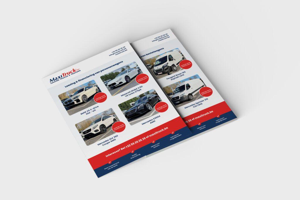 Flyer ontwerp voor Maxitruck