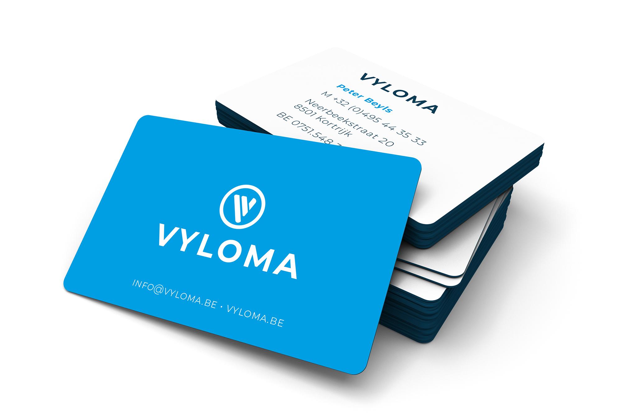 Visitekaartje ontwerp voor Vyloma
