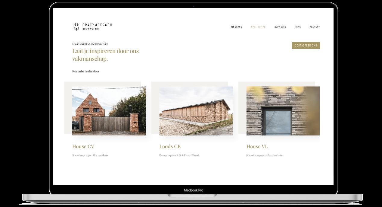 Craeymeersch website ontwerp