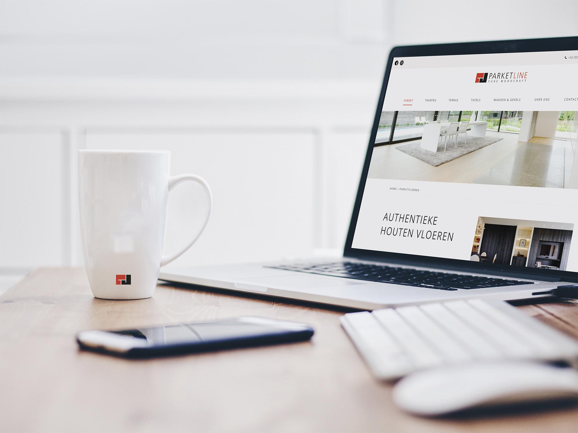 Nieuwe website voor Parket Line